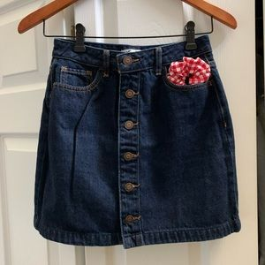 Hollister Ultra High Rise denim skirt.